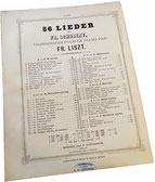 Серенада Шуберта, Лист, ноты для фортепиано