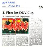 3. Platz DDV-Cup