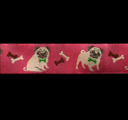Band 70, Mops Hund rosa by Ribbon Adorable Pug Jessica Jones 22mm