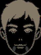 ヒゲ脱毛:アゴ両サイド