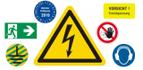 Schilder und Etiketten