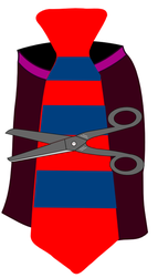 skirt tie scissors