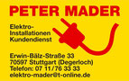 Fahrtenbuch Peter Mader