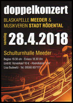 Flyer Doppelkonzert 28. April 2018