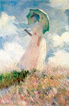 Frau mit Sonnenschirm-Claude-Monet-1886 (Quelle: Wikipedia)