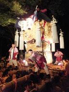 金糸で飾られた豪華絢爛な新居浜の太鼓台