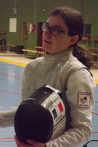 Faustine à la sortie de son entraînement