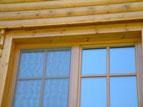 Fenster im Blockhaus