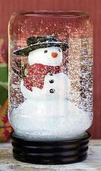 mason jar snow globe image