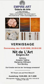Amador Vallina: Nit de l'Art, Empire Art