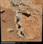 Curiosity investigated an area that appears to be an ancient riverbed (Credit: Malin Space Science Systems)
