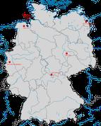 Nachweise der Wanderdrossel in Deutschland