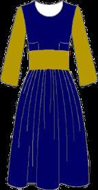 Robe drapée coté
