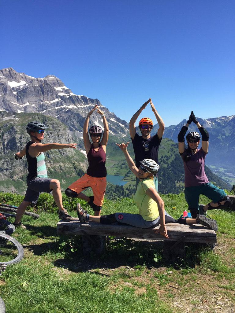 Bike und Yoga Weekend 2019 im Ortstockhaus in Braunwald
