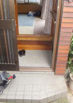 車椅子用スロープを設置するための玄関リフォーム