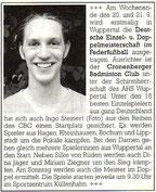 Cronenberger Anzeiger Bericht vom 02.09.2003