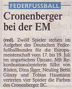 Westdeutsche Zeitung Vorbericht vom 29.06.2005 EM
