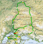 Übersichtskarte der Tour (Microsoft Streets & Trips)