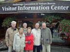 Unser Team (von links hinten): Helmut, Bernhard, Peter, Klaus; vorn: Christel, Renate