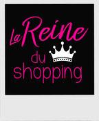 tshirt femme reine du shopping
