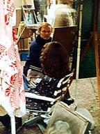 Am Place du Tertre 1976 - Roswitha wird portraitiert
