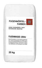 Fügenmörtel-Farben Grau in 25 kg Gebinde verpackt für den Versand