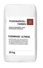 Fügenmörtel-Farben Altweiss in 25 kg Gebinde verpackt für den Versand