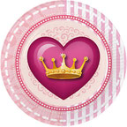 Inhoud Feestpakket Princess Party: 6 bordjes