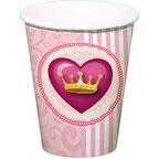 Inhoud Feestpakket Princess Party: 6 bekertjes