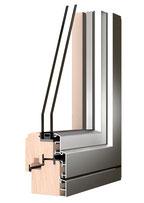Holz Alu Fenster - Aluverkleidung für Holzfenster