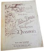 Дунайские волны, вальс, ноты для фортепиано