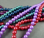 Perlen, Perlenstränge  Schmuckelemente z.B. für Häkelketten