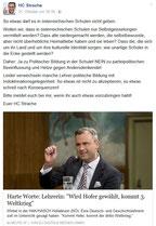 FB HC Strache ruft zur Denunzierung von Lehrer/innen auf