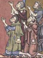 Bild aus der Maciejowski-Bibel 13.Jhd.