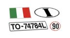 adesivi targhe targa immatricolazione bandiera bandiere storiche italia gb germania gran bretagna inghilterra spagna francia bandierine