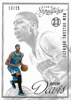 "ANTHONY DAVIS / Panini ""Signatures"" 2012/2013 / PARALLEL  #d 10/25"