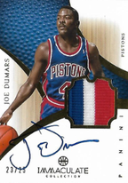JOE DUMARS / Immaculate Auto Patch - No. 187  (#d 23/25)