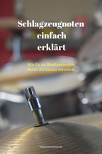 Noten Drums lesen lernen