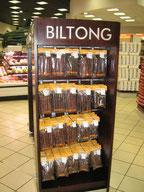 Biltong dans les supermarchés