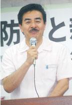 尖閣防衛をテーマに講演する佐藤正久氏=27日夜、大川公民館