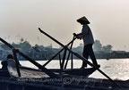 Ruderer am Mekongdelta