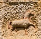 Pferd im Sandstein. Fotos: wikipedia