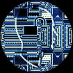 ilustracion de circuito electronico