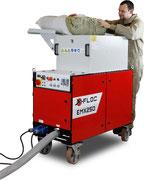 Steinwolle Brandschutz-Beschichtung wird mit der EMX 250 verarbeitet.