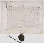 Traité de Troyes. Placé sur Wikimedia Commons par les Archives Nationales.