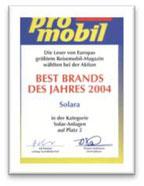 SOLARA Best Brand - Top Marke - Beste Marke