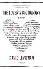 The lover's dictionary; David Levithan; Buchcover; live4happiness2day; bloggingforinspiration