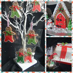 Christmas Gingerbread men and Christmas gingerbread houses
