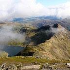 Blick vom Mount Snowdon in Wales