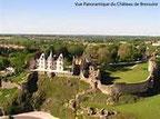 le chateau de Bressuire et ses ruines, vus du ciel